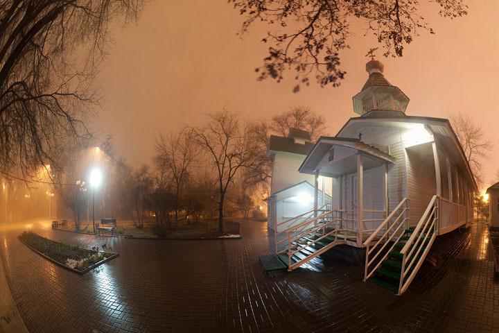 Часовня в туман