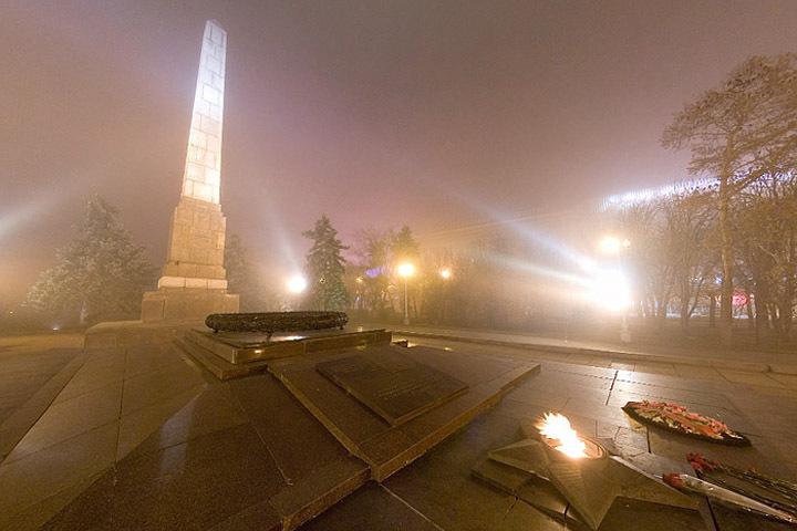 У вечного огня в туман