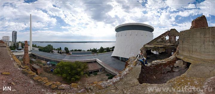 На крыше мельницы Гергардта