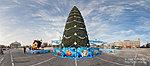 Новогодняя елка на площади Павших борцов