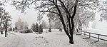 Зимний туман на Мамаевом кургане
