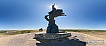 Памятник казачеству и вид на Хопёр