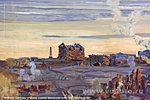 руины мельницы на полотне панорамы Сталинградская битва