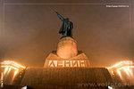 памятник Ленину в туман фото