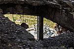 Вид на фонтан «Детский хоровод» сквозь руины