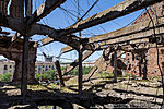 Руины перекрытий крыши мельницы