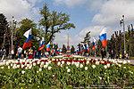 Первомайские тюльпаны на площади Павших борцов