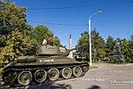 Т-34 на открытии часовни на площади Чекистов
