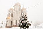 Новогодняя ёлка у храма