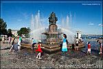 летняя радуга, фонтан Искусство фото