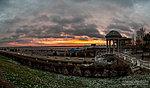 Панорама набережной на восходе