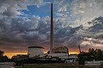 Огненный закат у музея-панорамы