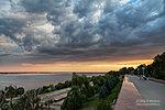 Закатное небо у музея-панорамы