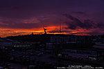 Закатное небо над Мамаевым курганом