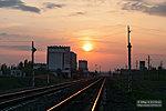 Железная дорога в лучах заката