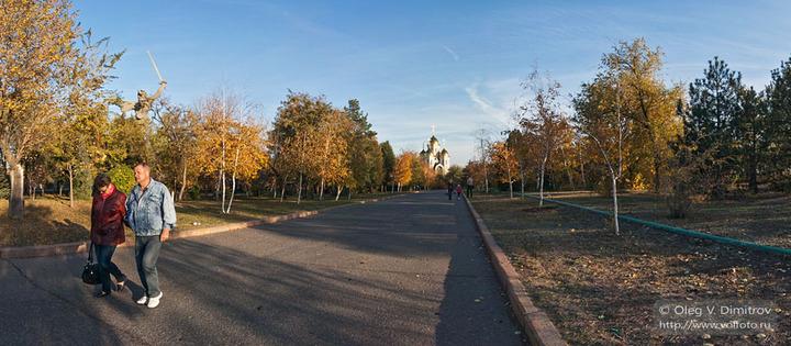 Аллея парка на Мамаевом кургане