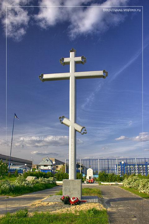Крест на острове Людникова фото