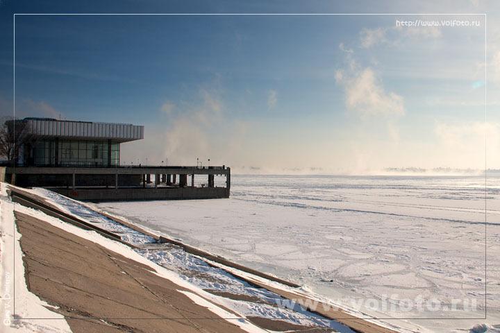 Волга во льдах фото