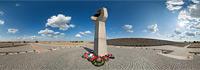 Воинское кладбище в Россошке - панорама