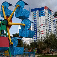 Парк аттракционов у Европа сити молл - фото